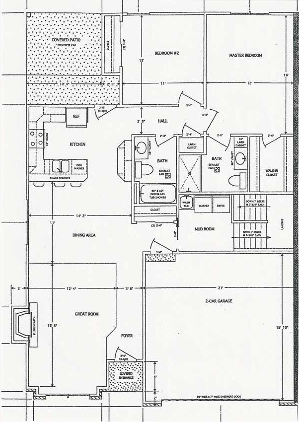 Rosal homes 1350 square foot villa for 1350 sq ft house plan